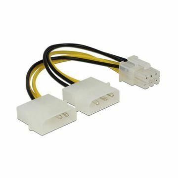 Picture of Adapter DC 2xMolex M - 6pin za grafične kartice PCI-express 0,15m Delock