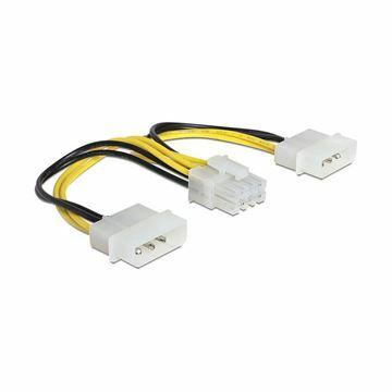 Picture of Adapter DC 2xMolex M - 8pin EPS Delock