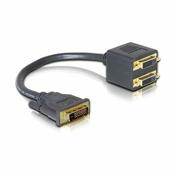 Picture of Adapter DVI-1xDVI 24+1M/2x24+1Ž Delock