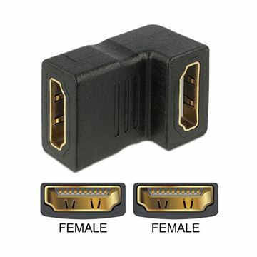 Picture of Adapter HDMI Ž - HDMI Ž 19-pin kotni Delock
