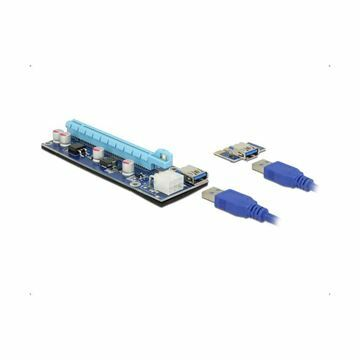 Picture of Adapter Riser PCI Express x1 na x16 60cm 6pin USB 3.0 Delock