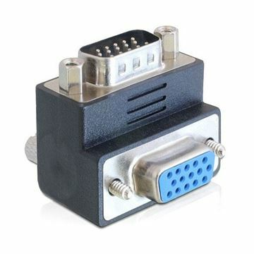 Picture of Adapter VGA M - VGA Ž kotni 90° Delock