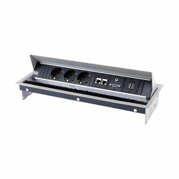Slika BAC-Kit 3x220V, 2xRJ45, 1x HDMI, 1x VGA vgradni, z napajalnim kablom