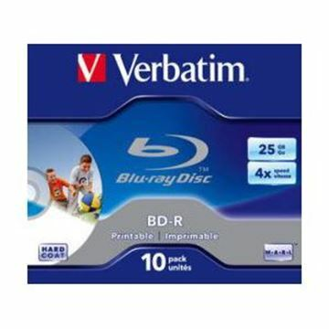 Picture of BLU-RAY 6x 25Gb 10-kos printable Verbatim