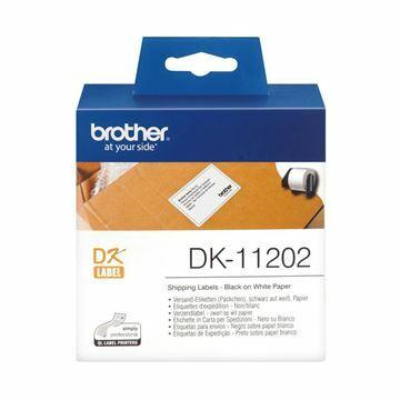 Picture of BROTHER DK11202 termične nalepke za odpremo 62x100mm