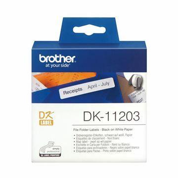 Picture of BROTHER DK11203 termične nalepke za registratorje 17x87mm