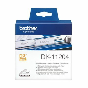Picture of BROTHER DK11204 termične večnamenske nalepke 17x54mm