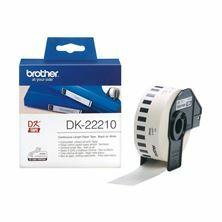 Slika BROTHER DK22210 termične neskončne nalepke - papir 29mm x 30,48m