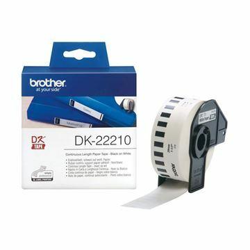 Picture of BROTHER DK22210 termične neskončne nalepke - papir 29mm x 30,48m
