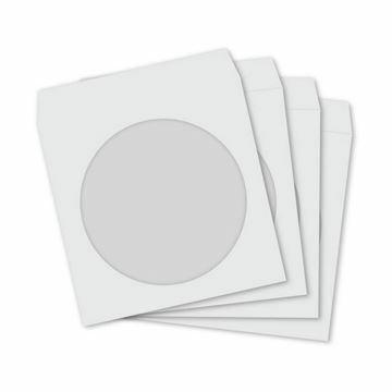 Picture of CD/DVD ovitek papirnat bel (pak/100)