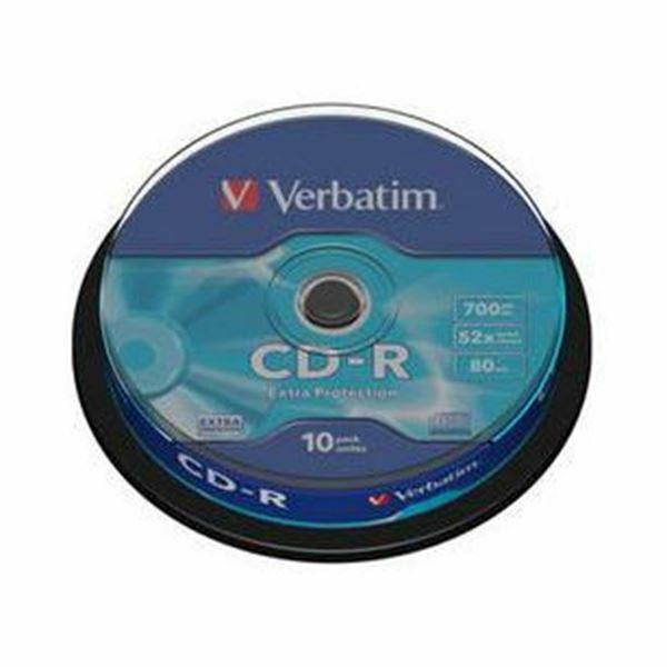 Picture of CD-R 52x 700Mb 10-cake Verbatim