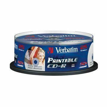 Picture of CD-R 52x 700Mb 25-cake printable Verbatim