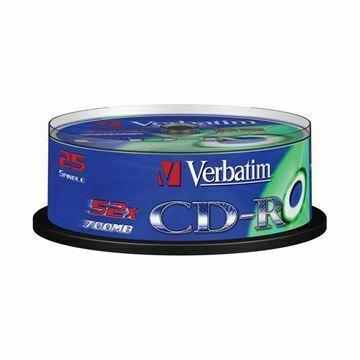 Picture of CD-R 52x 700Mb 25-cake Verbatim
