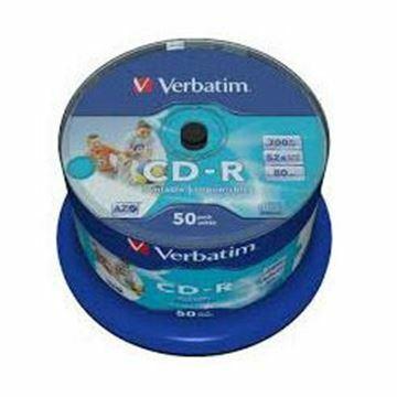 Picture of CD-R 52x 700Mb 50-cake printable Verbatim