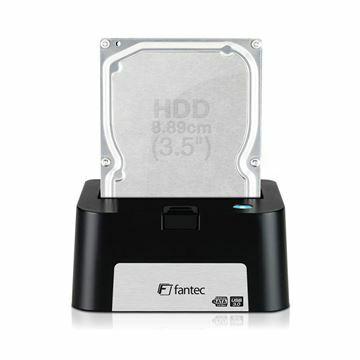 Slika Čitalec diskov USB 3.0/ eSATA v ohišju črn Fantec