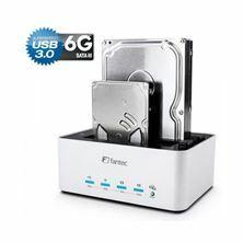 Čitalec in presnemovalec diskov USB 3.0 AluDOCK-2X Fantec