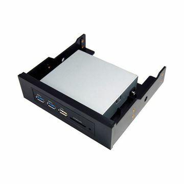 Slika Čitalec kartic - notranji + 3xA USB 3.0 E-110 STLab