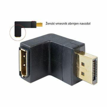 Picture of DisplayPort - DisplayPort adapter M/Ž kotni Delock