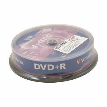 Picture of DVD+R 4,7Gb 16x 10-cake Verbatim