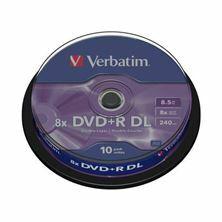 Slika DVD+R 8,5Gb 8x 10-cake dvoslojni Verbatim
