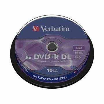 Picture of DVD+R 8,5Gb 8x 10-cake dvoslojni Verbatim