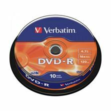 Slika DVD-R 4,7Gb 16x 10-cake Verbatim