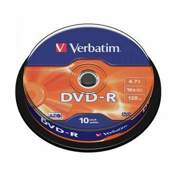 Picture of DVD-R 4,7Gb 16x 10-cake Verbatim