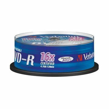 Picture of DVD-R 4,7Gb 16x 25-cake printable Verbatim
