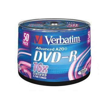 Picture of DVD-R 4,7Gb 16x 50-cake Verbatim