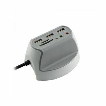 Picture of Hub USB  3xA + čitalec kartic + 2x avdio SBOX