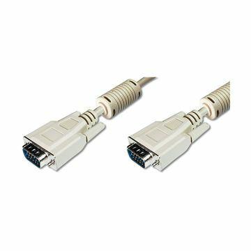 Slika Kabel 1:1 SVGA 15 m-m 20m 14 kontaktov siv Digitus