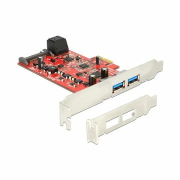 Picture of Kartica PCI Express kontroler x1 USB 3.0 Delock 2xA + 2xSATA III Low profile