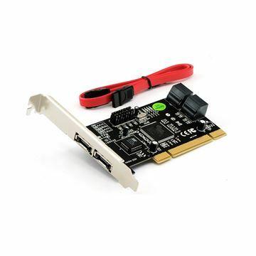 Slika Kartica PCI Kontroler STLab A-214 SATA 4x int. + 2x eSATA zun.