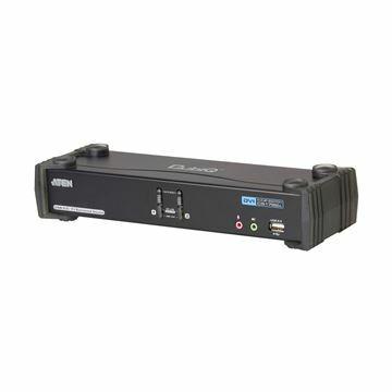 Picture of KVM  stikalo  2:1 namizni DVI/USB/AVDIO + USB HUB s kabli CS1782A Aten