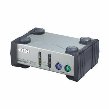 Picture of KVM  stikalo  2:1 namizni VGA/PS2 s kabli CS82AC Aten