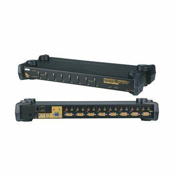 Slika KVM  stikalo  8:1 48cm VGA/USB/AVDIO CS-1758Q9 Aten