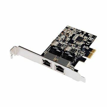 Slika Mrežna kartica Giga 10/100/1000 PCI Express 2xRJ45 N-381 STLab