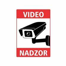 "Slika Nalepka ""VIDEONADZOR"" A4 (263x183) bela"