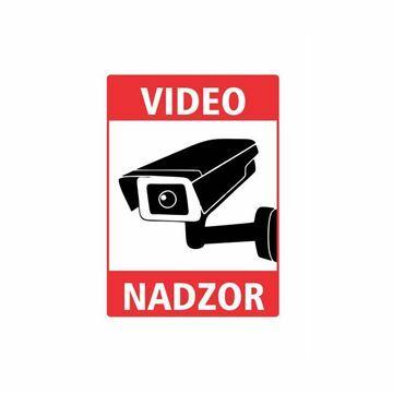 "Picture of Nalepka ""VIDEONADZOR"" A5 (190x133) bela"