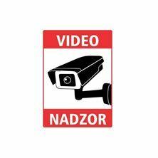 "Slika Nalepka ""VIDEONADZOR"" A5 (190x133) prozorna"