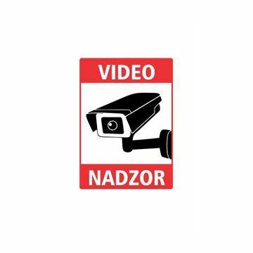 "Picture of Nalepka ""VIDEONADZOR"" A6 (134x95) prozorna"