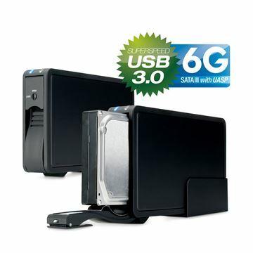 Picture of Ohišje 9cm USB 3.0 ER-35U3-6G ventilator 30mm črn