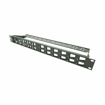 Picture of Panel CAT.5e/6/6A 24-P modularen+nosilec kablov, V12, Leviton