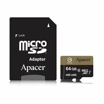 Slika Pomnilniška kartica microSD XC  64GB APACER UHS-I U3 95/85 Class 10