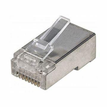 Slika RJ45 konektor FTP trdi kabel Intellinet (3rez) (pak/100)