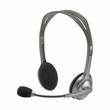 Slika Slušalke + mikrofon Logitech H110 stereo sive