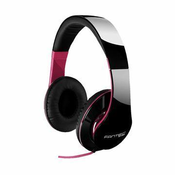 Slika Slušalke stereo SHP-250AJ črno/roza Fantec