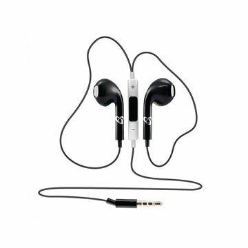 Slika Slušalke ušesne stereo z mikrofonom iEP-204B črne SBOX