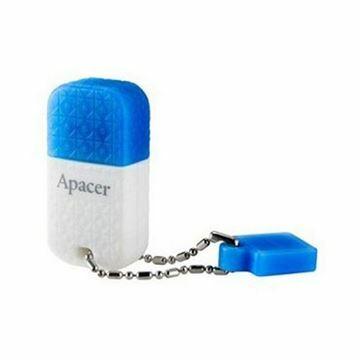Slika USB 3.0 ključ     8Gb  AH154 APACER super mini, belo/moder