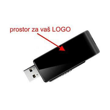 Slika USB 3.0 ključ    16Gb  AH350 APACER črno/bel, bulk, no logo